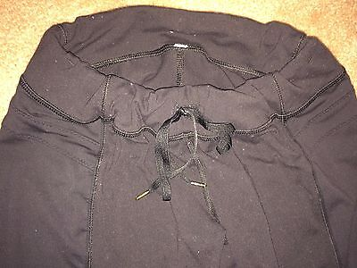 Lululemon  Drawstring Running Yoga Capri Crop Black Pants Small