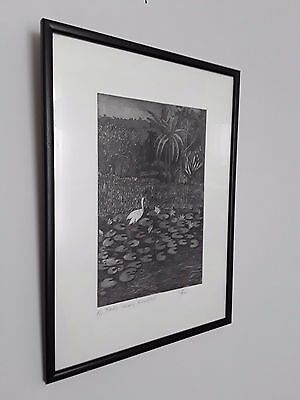 Original etching limited edition A/P 'Early Mornig ...' signed late 20th Century