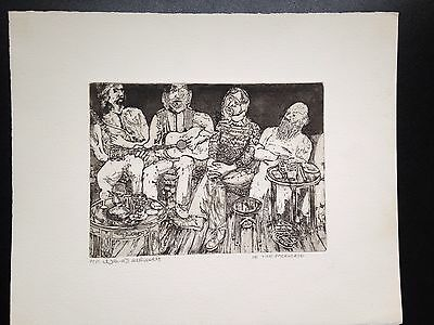 original etching limited edition artist proof  Wendy de Rusett- In the Packhorse