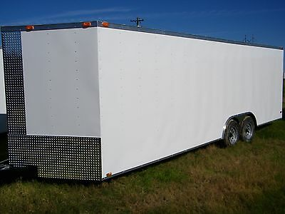Brand New 2017 8.5 X 24 Diamond Cargo Trailer Free Radial Tires and LED Lights