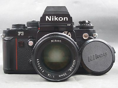 Vintage Nikon F3 HP Film SLR Camera Body & 50mm 1:1.4 NIKKOR Lens Bundle