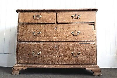 Antique Georgian very rustic oak chest of drawers