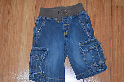 BOYS denim cargo shorts Gymboree size 3