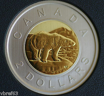 2017 Canada Toonie $2 coin Specimen finish coin only: from set