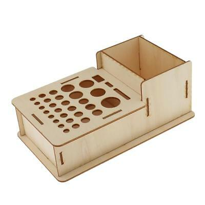 Wooden Leathercraft Tools Rack Stand Leather Stamp Tools Holder Organizer #1