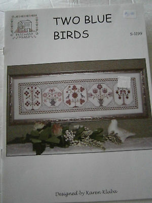 2012 Two Blue Birds Flowers Cross Stitch Pattern Book Rosewood Manor NEW Kluba
