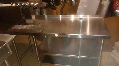 Perlick 4404 Glycol and Stainless table with Draft Tower Draft Beer System