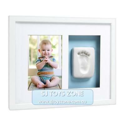 Pearhead Babyprints Newborn Baby Handprint or Footprint Wall Frame - Blue or Pin
