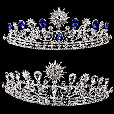 Wedding Bridal Prom Party Tiara Hair Jewelry Crystal Sunflower Crown Headband