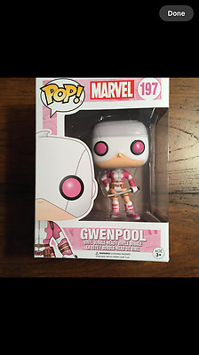 "New Funko Pop Marvel ""gwenpool"" Masked Vinyl Bobble-Head Figure In Stock"