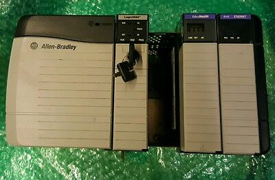 Allen-Bradley Chassie With Power Supply 1756-Pa72/b & Controllogix 1756-A4/b And