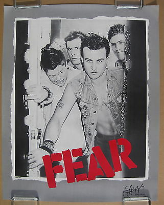 FEAR The Record 1982 US ORG Slash Records PROMO POSTER Lee Ving PUNK Minty!