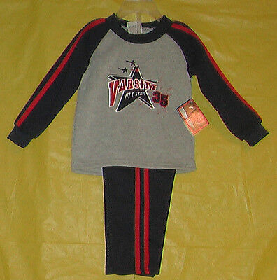 Mad Games (New) Boys (Size 18 Months) 2 Piece Shirt & Pants Outfit Long Sleeve