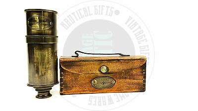 New Vintage Style Solid Brass  Nautical Telescope,Pirates Spyglass leather box