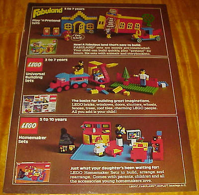 1979 Lego Toys 1 Page Ad #1 #093016