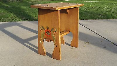 Vintage CORONADO Monterey Hand Painted Bench Chair Stool 1930's Spanish Mission