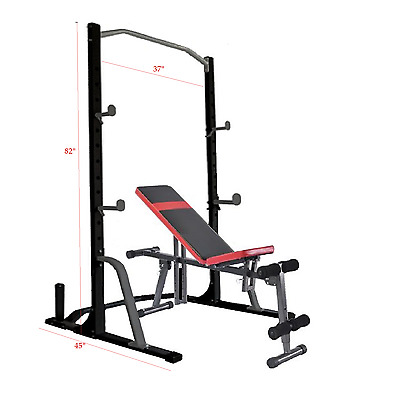 Body Champ PBC530 Power Rack System With weight Bench & Olympic Plate Storage