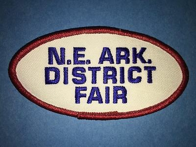 North East Arkansas District Fair Hat Hipster Jacket Backpack Travel Patch Crest