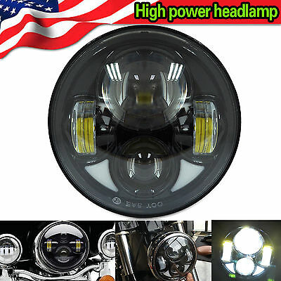 """5.75"""" LED Motorcycle Headlight Daymaker Projector DRL Car Lamp for Harley"""