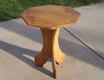 Vintage CORONADO Monterey Hand Painted Bistro Side Table 1930's Spanish Mission