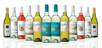 Premium NZ & Australian Mixed White Wine Carton (12x750ml) Free Shipping