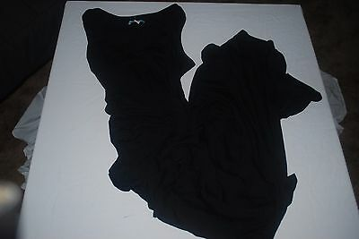 Old Navy Black Maternity, ruched sided long dress, size M