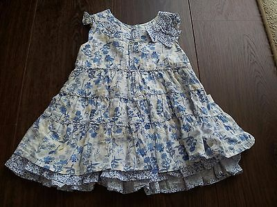 Baby Girl Clothing Size 00 - Pumpkin Patch Blue/White/Yellow Floral Dress