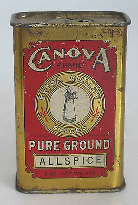 Canova Spice Tin;  Graphic; Full: Maury, Cole Co.