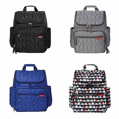 Skip Hop Forma Backpack Baby Changing Bag With Mat & Pushchair Straps