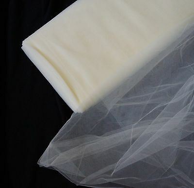 Soft BRIDAL TULLE IVORY / CREAM 1 metre x 180cm wide - Wedding, Hats, Costumes