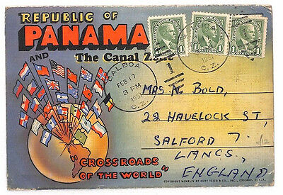 AR211 1951 PANAMA Canal Zone *Balboa* Pictorial Souvenir Booklet GB Lancs