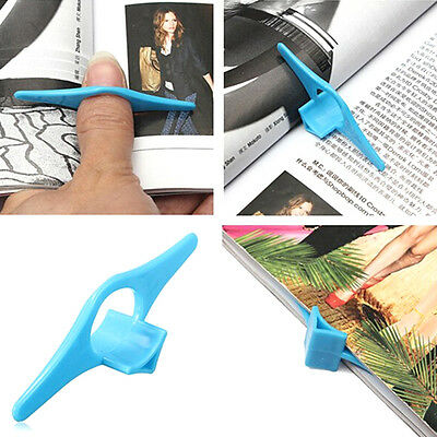 2 x Thumb Book Page Holder And Bookmark Blue Plastic For Magazine