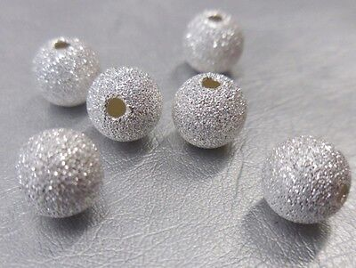 🎀 3 FOR 2 🎀 100 Silver Round Stardust 3mm Spacer Beads For Jewellery Making