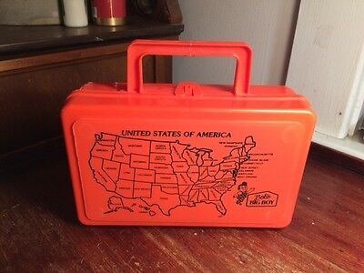 Vintage BOB'S BIG BOY Lunch Box by Whirley Warren PA United States Map