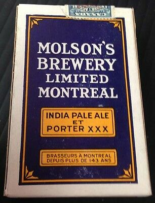 R1560.Molson Brewery unopened complete set of playing cards 1929 purple version