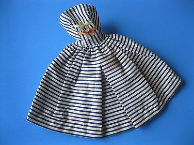 Vintage Barbie Doll BLUE & WHITE STRIPED DRESS Cotton Casual Outfit #912 Clothes