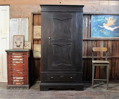 French Painted Pine Armoire/Wardrobe/Cupboard  Vintage Chippy