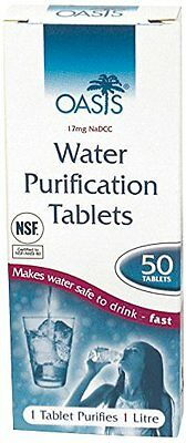 CR210 Oasis Water Purification Tablets Pack of 100 2x packs of 50