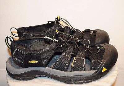 Men's Keen Sport Sandals Black Leather Size 10 US EXCELLENT BARELY USED COND!