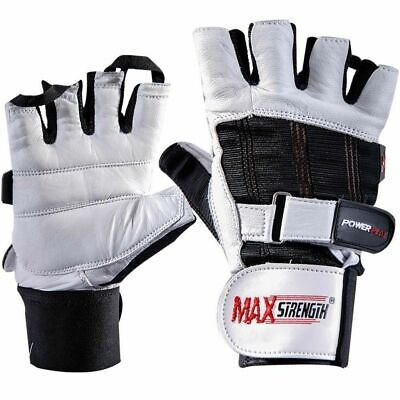 Weight Lifting Leather Fitness Gloves Gym Cycling Training Support Glove Sports