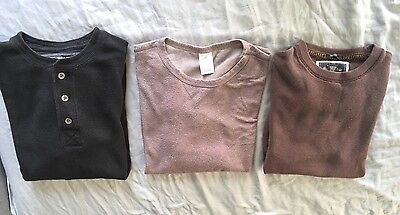 Men's Lot Of Long Sleeve Thermal Shirts:  Abercrombie & Fitch, Old Navy, H & M