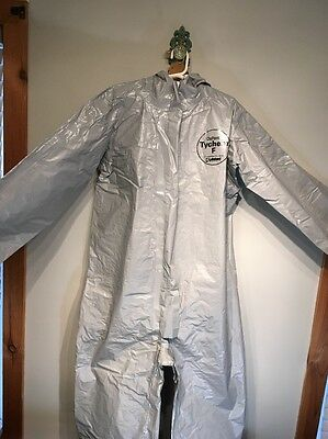 LAKELAND 60151 Tychem  F COVERALL With Hood Over Boots NEW!