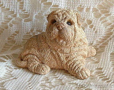 Dogs Collectible Shar Pei Sharpei Puppy Dog Figure Figurine Made in USA 1988 UDC