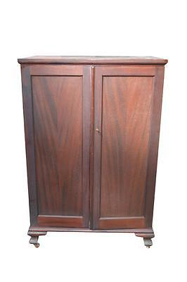 18110 *REDUCED PRICE* Antique Mahogany 2 Door Chiffonier Multi-Drawers Wardrobe