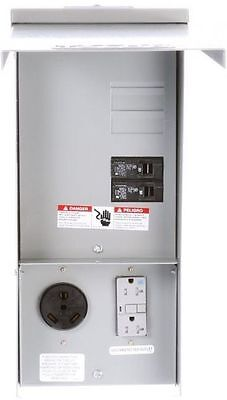 Temporary Power Outlet Panel W/20 And 30 Amp Receptacles Unmetered RV Volt 240