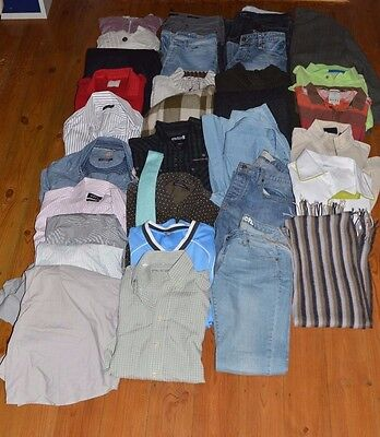 Bundle Job Lot 35 Items Mens High Street Designer Clothing All Listed