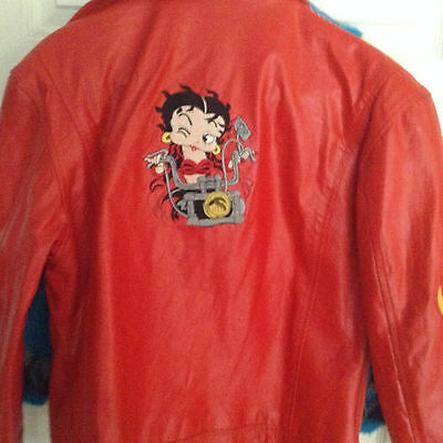 New Betty Boop Red Leather Jacket