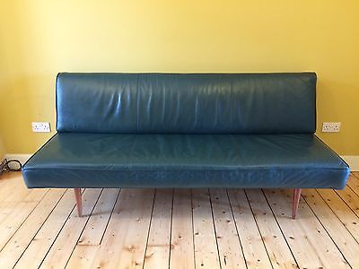 Vintage Leather Peter Hvidt France & Son Couch Sofa Daybed Midcentury Danish
