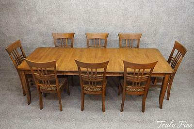 Thomasville 8 Chairs Extension Dining Room Table Honey Maple Complete Set Suite
