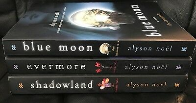 Lot of 3 THE IMMORTALS series books by Alyson Noel Evermore, Shadowland